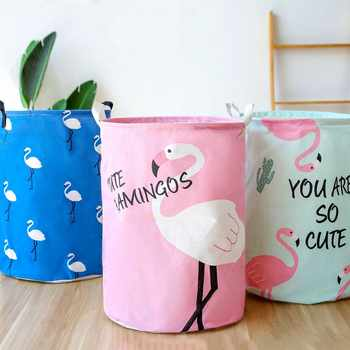 Pink Flamingo Folding Laundry Basket Large Storage Baskets Bin For Kids Toys Clothes Organizer Cute Animal Laundry Bucket Bag - Category 🛒 All Category
