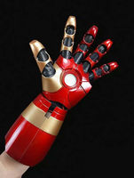 [Funny] Avengers MK42 XLII 4Wearable Blaster Gauntlet Arm Hand Cattoys Mark42 Arm Right/ 1/1 LED Armor Hand For Iron Man gloves