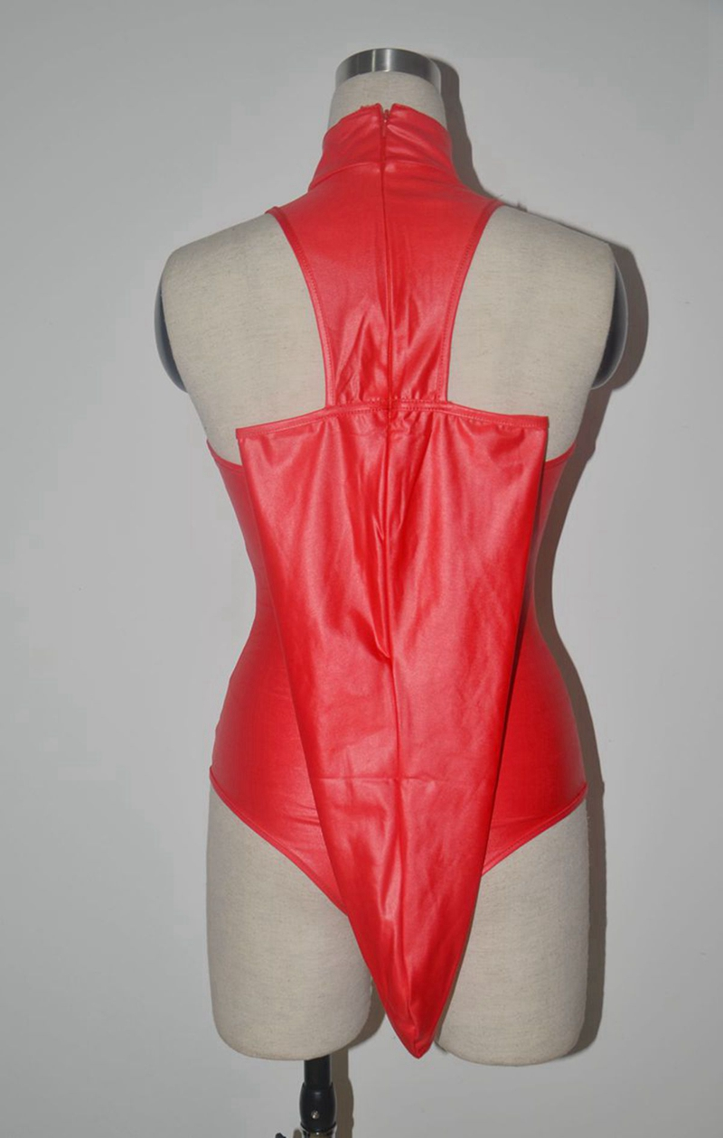 Women Sexy Faux Leather bodysuit PVC wetlook lingerie fetish Leotard Clubwear latex catsuit hot erotic sexy cosplay costumes