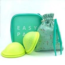 Disco reutilizável copo menstrual com design de ajuste plano feminino copa menstrual extra-fino esterilização silicone disco menstrual