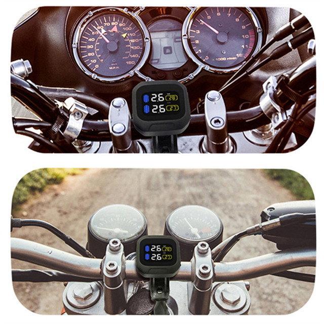 Oryginalny bezprzewodowy System monitorowania ciśnienia w oponach motocyklowych TPMS wyświetlacz LCD w oponach wewnętrznych lub zewnętrznych czujników TH/WI