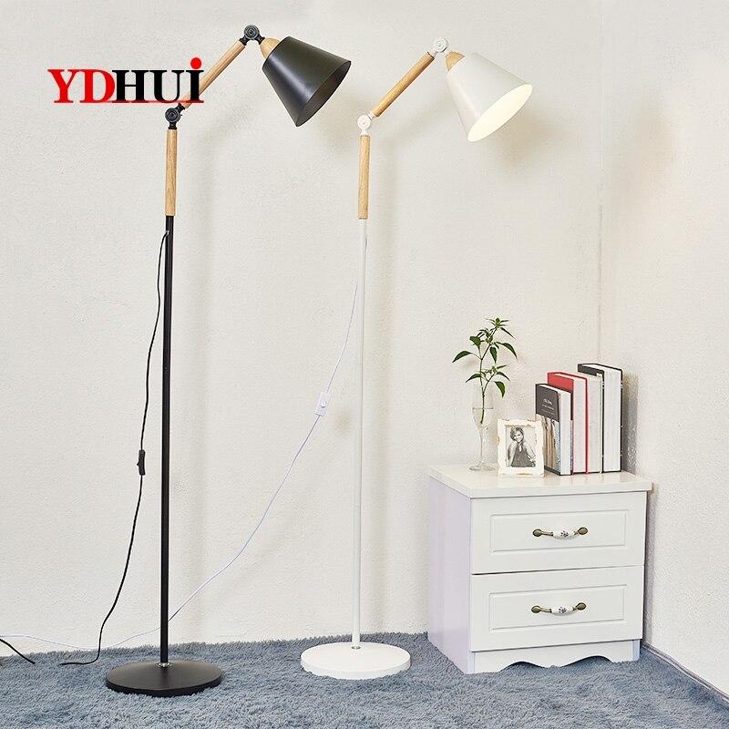 Simple modern floor lamp American living room bedroom creative floor lamp Nordic LED reading floor lamp