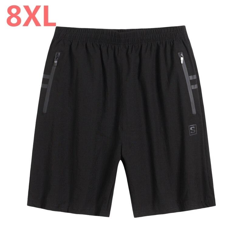 8XL 6XL 5XL Casual Shorts Men Breathable Shorts Male Elastic Waist Beach Shorts Mens Knee Length Jogger Board Shorts Homme