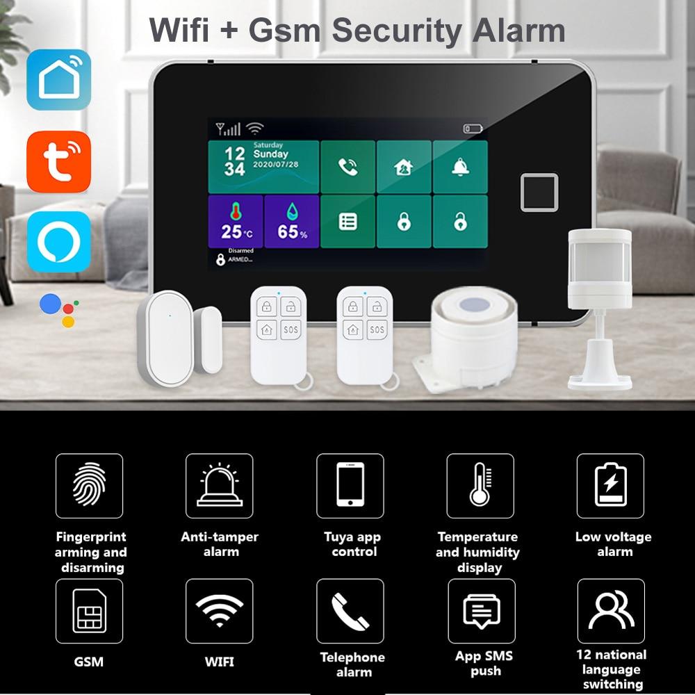 Охранная сигнализация Tuya с IP-камерой, 433 МГц, Wi-Fi, датчик движения, Управление приложениями, комплект сигнализации для умного дома 2
