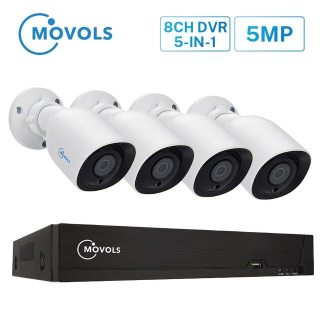 MOVOLS H.265 מעקב וידאו מערכת 5MP HD H.265 DVR 4PCS CCTV מצלמה ראיית לילה עמיד למים אבטחת מצלמה מערכת ערכת