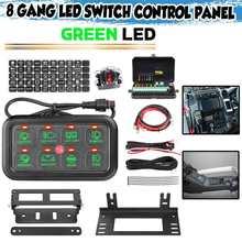 8 gang led interruptor do carro painel de controle relés kits sistema circuito toque universal painel controle para caminhão caravana barco utv atv suv