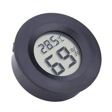 Round Electronic Thermometer and Hygrometer Indoor Digital LCD Hygrometer Temperature Humidity Meter C & F protmex digital temperature humidity meter ambient wet bulb dew point temperature moisture tester thermo hygrometer