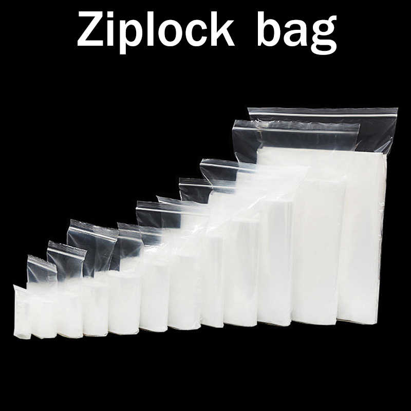 Wholesale Ziplock zipper Zip Lock storage bags Food package Small Jewelry packing Reclosable Poly Zip bag Thickness 0.06/0.12mm