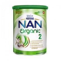 Смесь молочная сухая адаптированная Organic 2 Nestle NAN, с 6 мес., 400 г