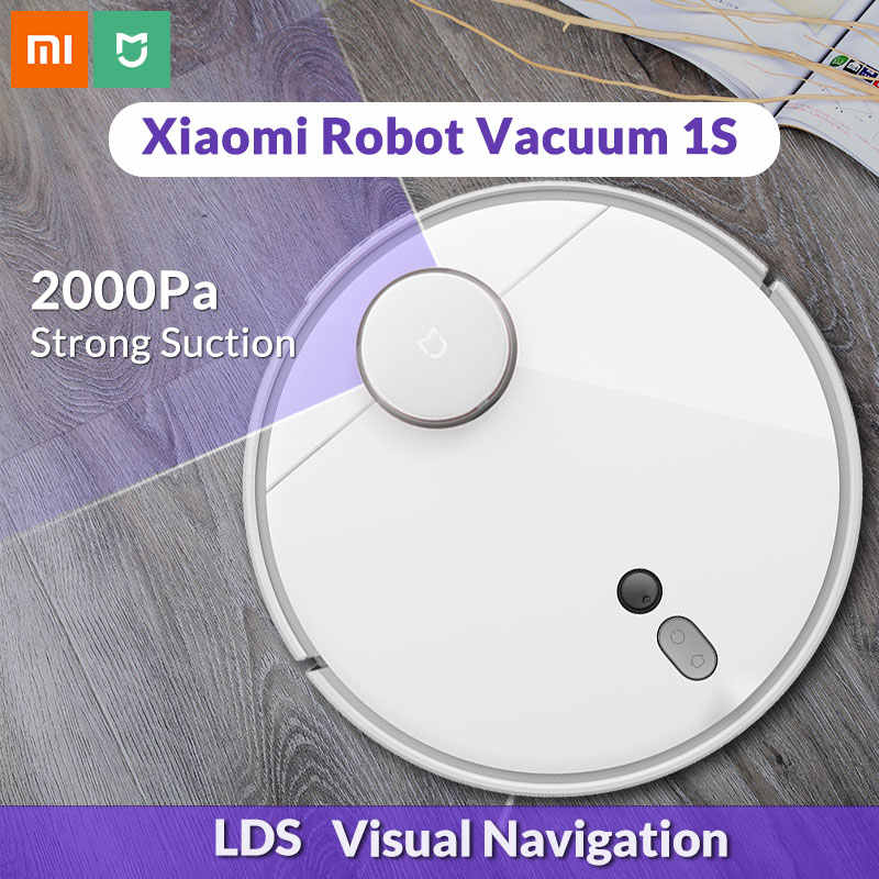 2020 xiao mi mi 로봇 진공 청소기 1 s 가정용 자동 청소 먼지 소독 스마트 계획 wifi mi jia app 원격 제어