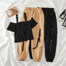 Safari Style Harem Long Pants Sets Women 2020 Summer Spring Vintage Streetwear Z