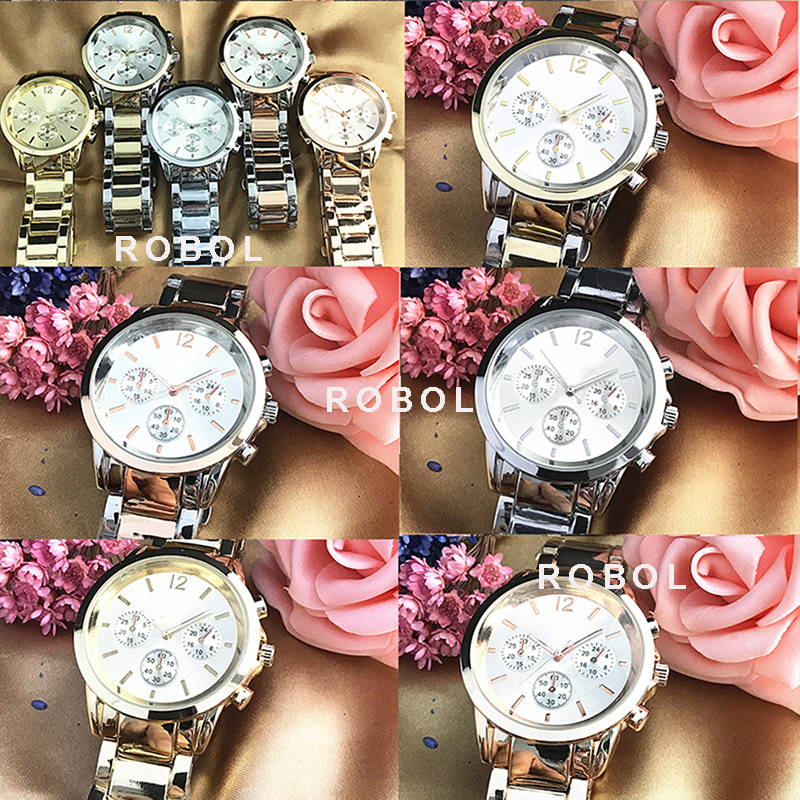 RLLEN Stainless Steel Men Women Couples Quartz Watches Fashion Luxury Jewelry Gift Precision Temperament  Original Copy Jewelry