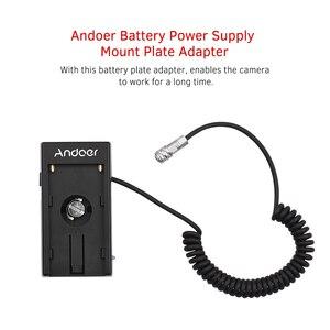 Image 2 - Andoer Blackmagic Cinema Camera Bmpcc 4K Voeding Mount Plaat Adapter Met Lente Kabel Voor Sony NP F970 F750 F550 batterij