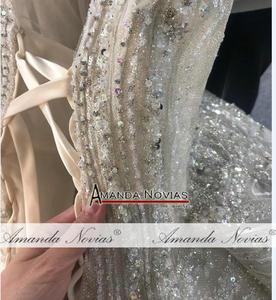 Image 2 - 2020 יוקרה ואגלי חתונת שמלת רצועות אמיתי עבודה סדר מותאם אישית
