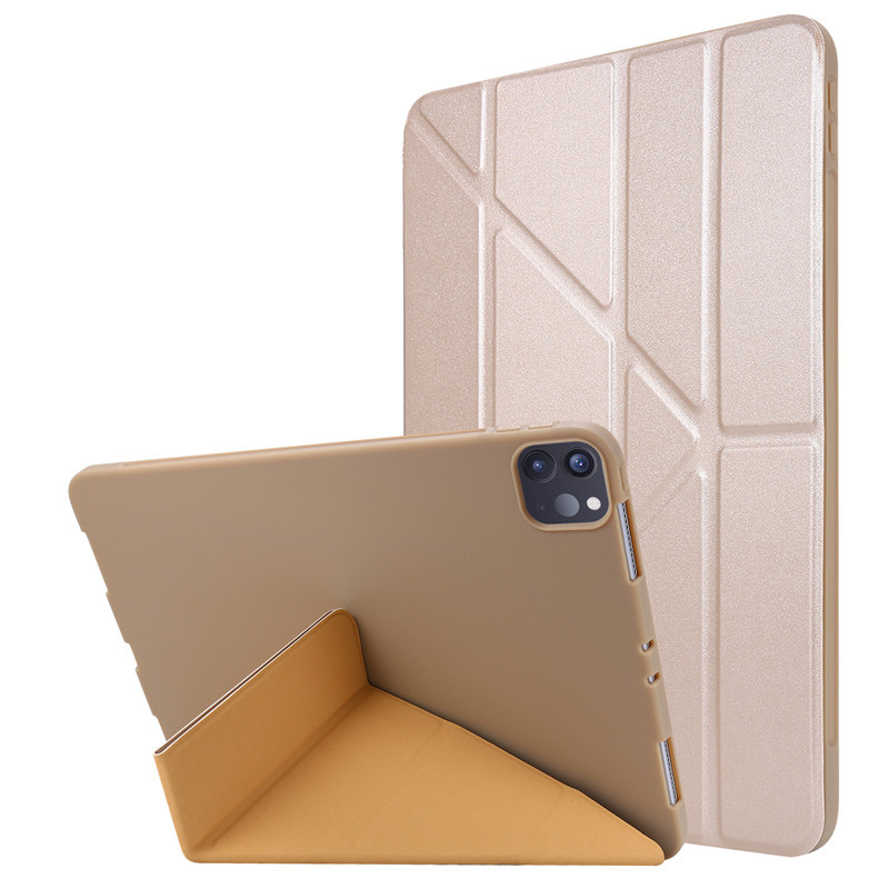 Gold Blue For 2020 iPad Pro 11 inch Case PU Leather Soft Silicone Back Magnetic Smart Cover for