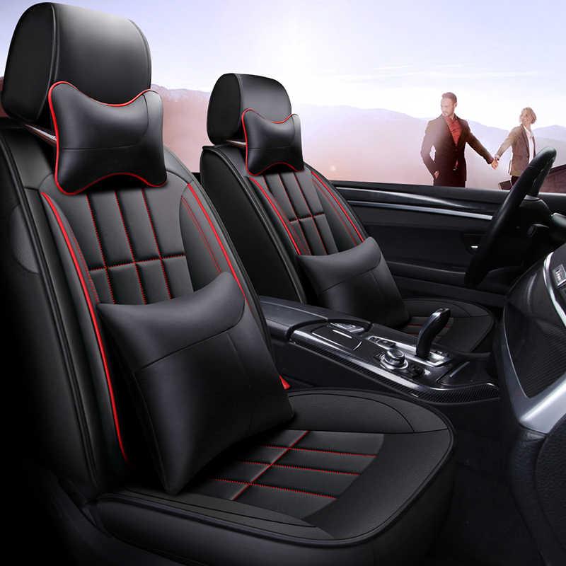 Cakupan Penuh Eco-Kulit Auto Kursi Penutup Pu Kulit Penutup Kursi Mobil untuk Kia Mohave Niro Optima Sorento Jiwa spectra Sportage