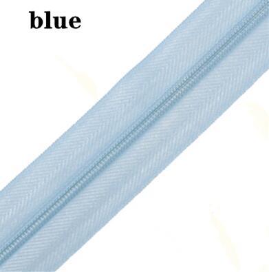 5 м длинная молния нейлон 3# пододеяльник подушка одеяло невидимая молния двойная молния черный и белый - Цвет: BLUE