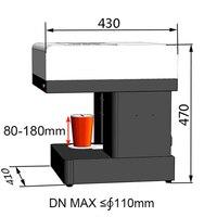 Beste preis HD 3D USB kaffee pull blume tee trinken kuchen 1cup kaffee drucker digitale maschine-in Küchenmaschinen aus Haushaltsgeräte bei