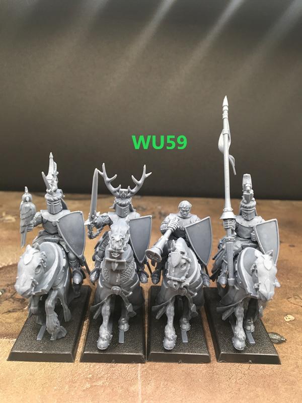 54mm Resin Figure Model Kit Dark Escort Yuan Warrior Unpainted Unassambled