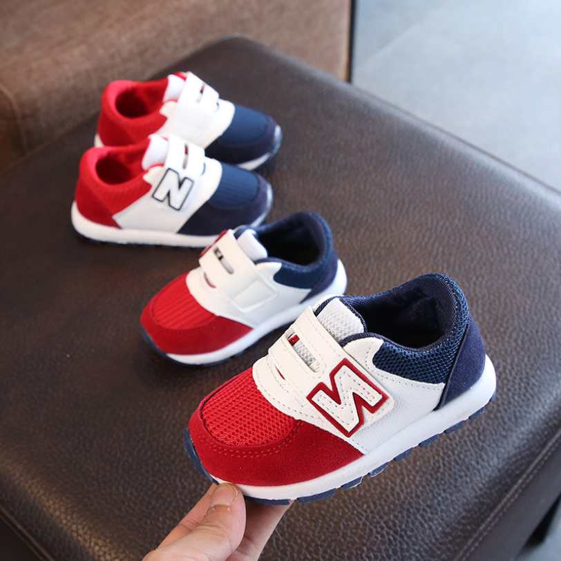 Children Sport Shoes Spring Autumn New Fashion Breathable Kids Boys Net Shoes Girls Anti-Slippery Sneakers Baby Toddler Shoes
