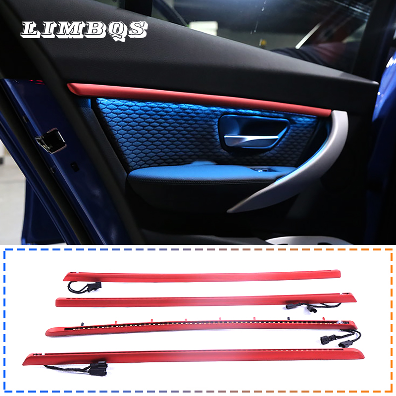 Ambient Light 9 Colors For Bmw F30 3 Series Auto Interior Inner Door Bowl Handle Armrest Light LED Atmosphere Interior Lamp