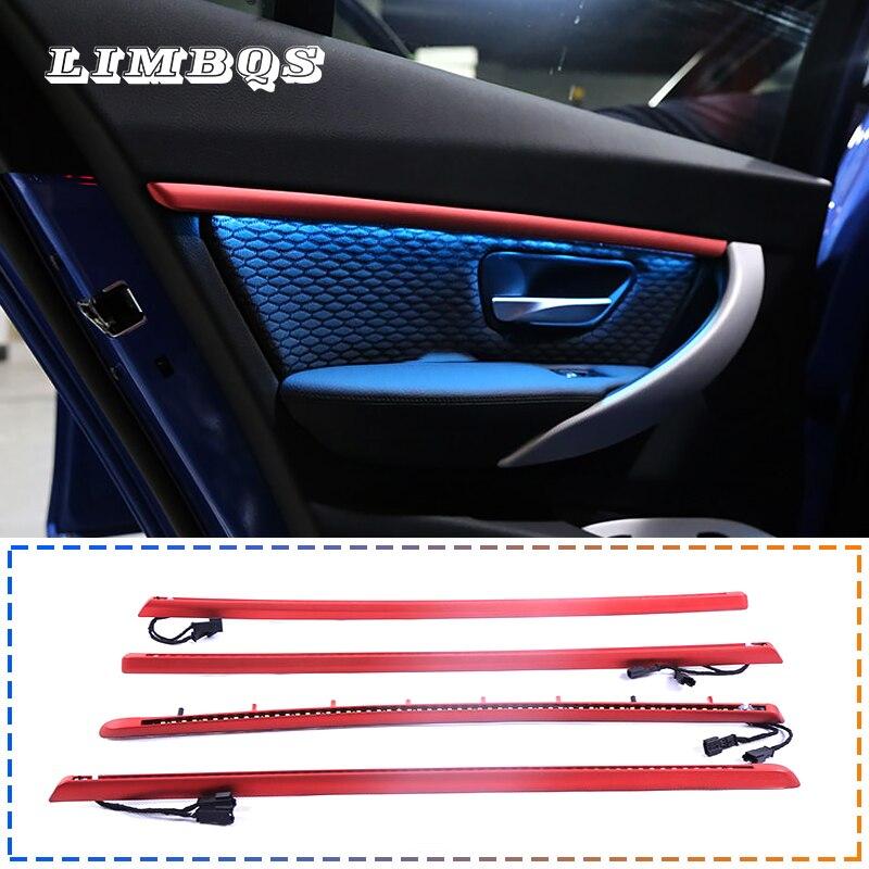 Lumière ambiante 4 couleurs pour bmw f30 f32 série 3 auto intérieur porte intérieure bol poignée accoudoir lumière atmosphère LED lampe intérieure
