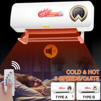 2000W Wall-mounted Remote Control Heater Home Energy Saving Heating Heating Fan Bathroom Air Conditioning Hot Air Heating