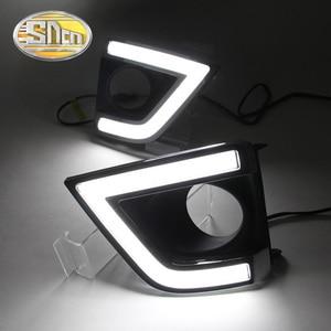 Image 3 - SNCN LED בשעות היום ריצת אור עבור טויוטה קורולה 2014 2015 2016 אביזרי רכב עמיד למים ABS 12V DRL ערפל מנורה קישוט