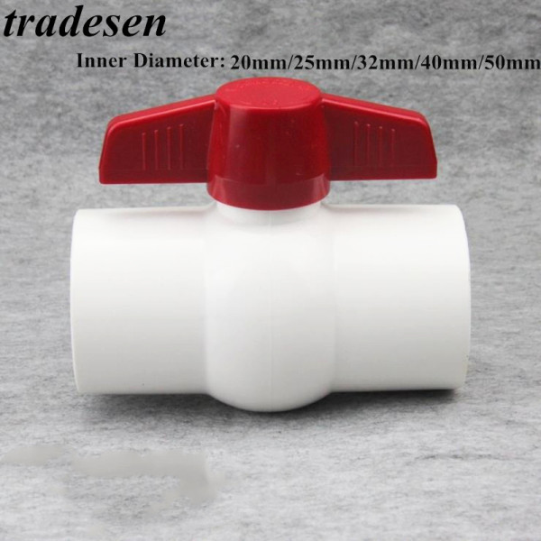 Color : White, Diameter : Inner Dia 63mm Pipes /& Hoses 1pc I.D 20~110mm PVC Ball Valve Aquarium Tank Pipe Globe Valve Stainless Steel Handle Garden Irrigation Water Pipe Connector Tubes