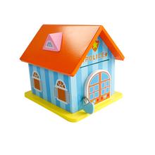 Piggy Bank Wood Chalet Coin Garden/Police Station House Room Money Bank Saving Money Gift for Kids kids toys