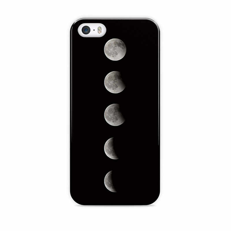 Missbuy Moon Stars Astronaut Space Phone Case for iPhone 5S SE Hard PC Cover for iPhone 6 6S 7 7 Plus Planet Starry Sky Cases