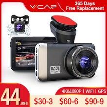 Vvcar d530 dvr carro câmera 4k & 1080p gravador de vídeo wifi velocidade n gps dashcam traço cam registrador carro spuer visão noturna