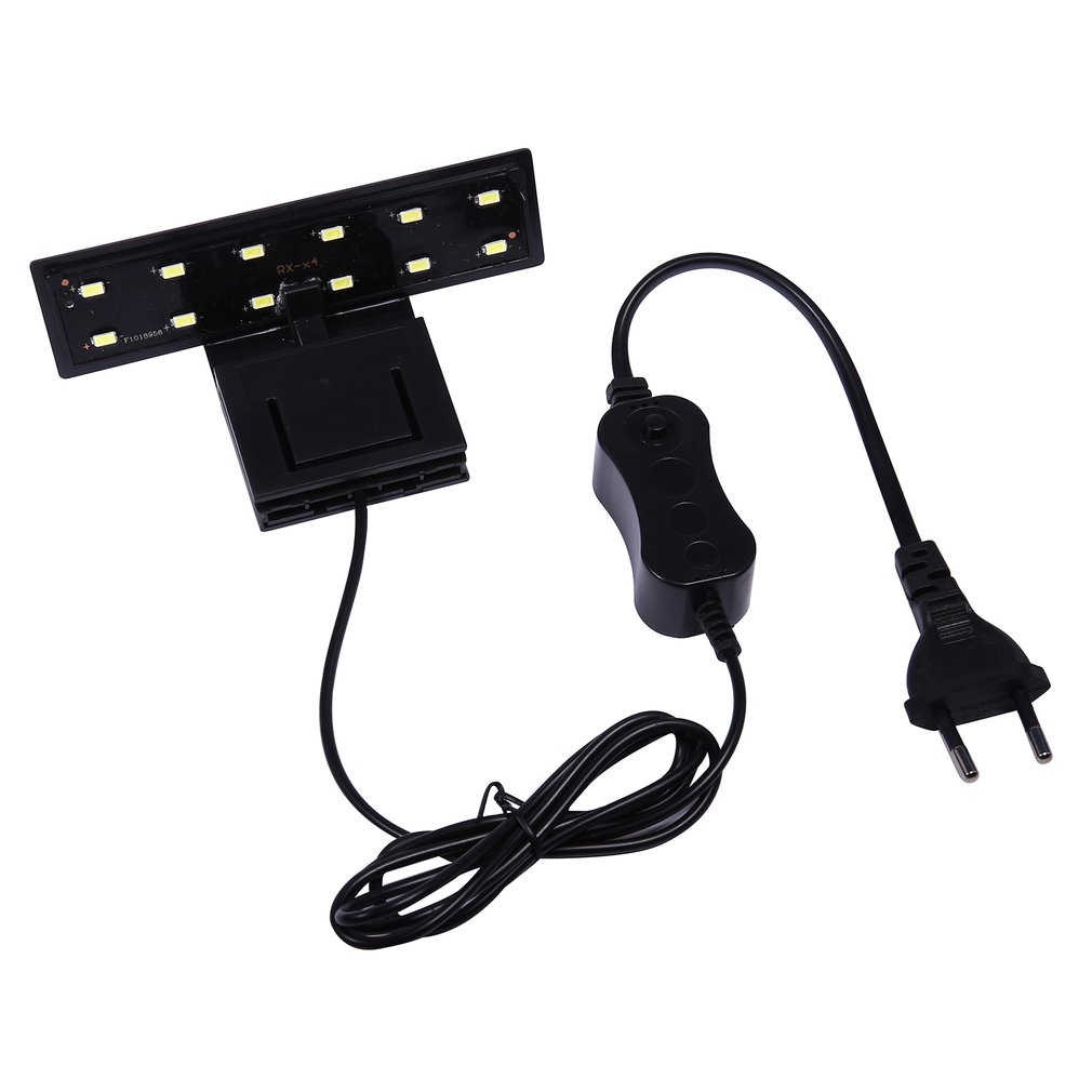High-power Water Grass Lighting 12 LED Clip On Clamp Lamp For Small Aquarium Fish Tank 5W 220V EU Plug