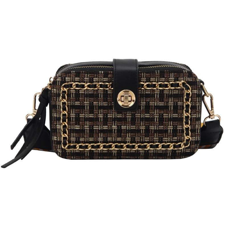 new Fashion Women Bag Leather Handbag PU zipper Shoulder Bag Small Chain Crossbody Bags for Women Diamond Lattice Messenger Bags in Shoulder Bags from Luggage Bags