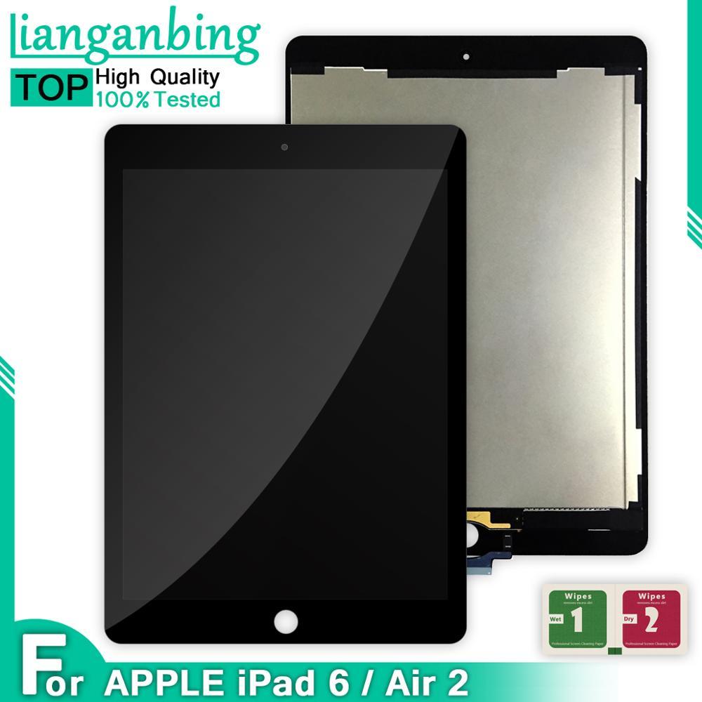 1 шт ААА + качество ЖК-дисплей сборки панель сенсорного экрана для iPad Air 2 для iPad 6 A1566 A1567 Дисплей Сенсорная панель экрана для замены части