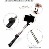 Новый портативный 3 в 1 беспроводной Bluetooth селфи палка + мини штатив для селфи с пультом дистанционного управления на мобильный телефон 4