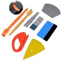 EHDIS, pegatinas Película de vinilo de fibra de carbono para coche, Kit de cortador de escurridor magnético, accesorios para coche, raspador de envoltura automática, tintes para ventanas