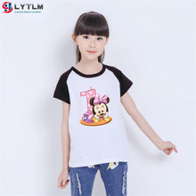 LYTLM Toddler Girl Shirt 1 Year Birthday Girl T Shirt Enfant Happy Birthday Anime Baby Girl Summer Clothes Vetement Enfant Fille(China)