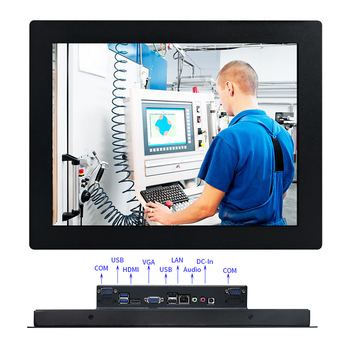 10.4 inch Industrial Computer Embedded Desktop PC with Capacitive or Resistance Touch Screen All in One PC win10 pro 1