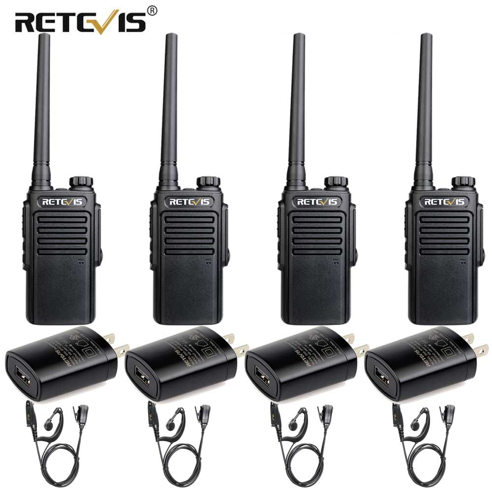 RETEVIS RT647/RT47 IP67 Waterproof Walkie Talkie 4pcs PMR Radio PMR446 VOX Two Way Radio Comunicador Transceiver With Earpiece