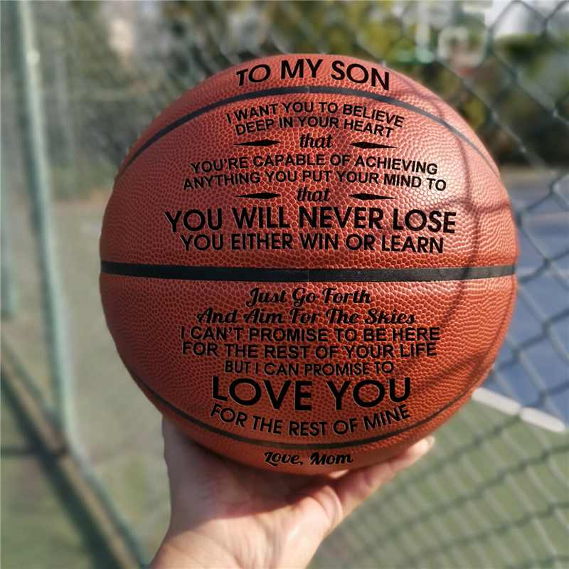 Size 7 Wear-resisting Hygroscopic Basketball Men's Sport Training Outdoor Engraved Basketball Amateur Professional Players Gift