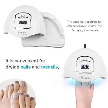 80W UV Lamp LED Nail Lamp Nail Dryer For All Gels Polish Sun Light Lamp Dryer Infrared Sensing Timer Smart LCD Display Manicure 1