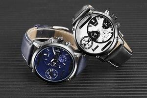 Image 5 - Keller & Weber zegarki męskie luksusowa marka słynny unikalny projektant prawdziwej skóry zegarek kwarcowy na rękę mężczyźni zegar człowiek Reloj Hombre