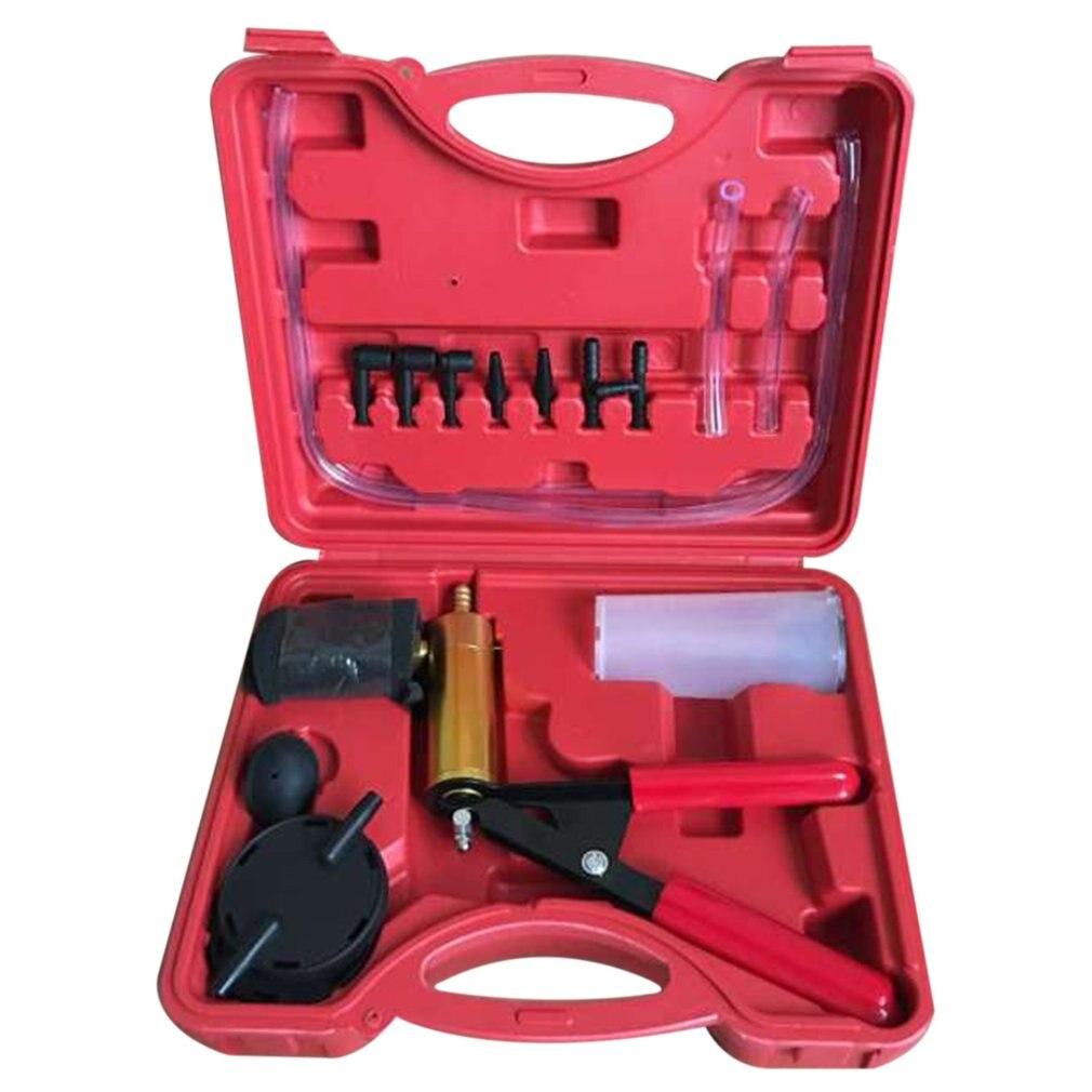 2020 New Hand Held Vacuum Pump Tester Set And Brake Bleeder Kit Car Motorbike Self Vacuum Pump Screw Adapter With Vacuum Gauge