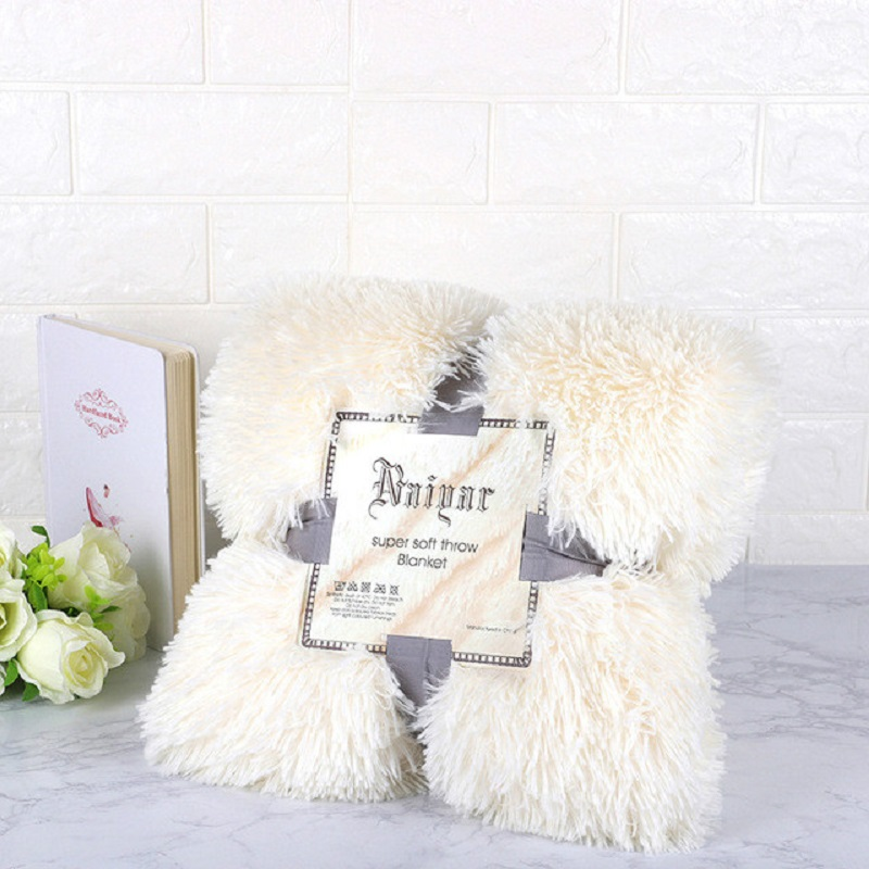 Plush Blanket Soft Fur Faux With Fluffy Throw Blanket Bed Sofa Bedspread Long Shaggy Warm Bedding Sheet Cozy Blankets