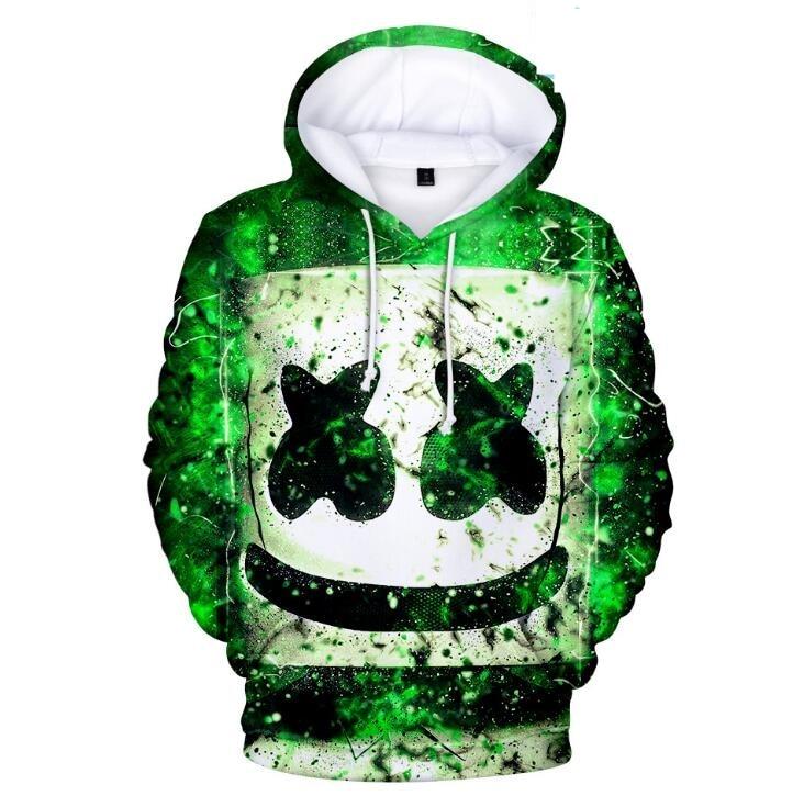 DJ Wild For Marshmallow Fans 3D Print Sweatshirt Hoodies Cosplay Unisex Adult Kid Hip Hop Leisure Streetwear Hoodies Costumes