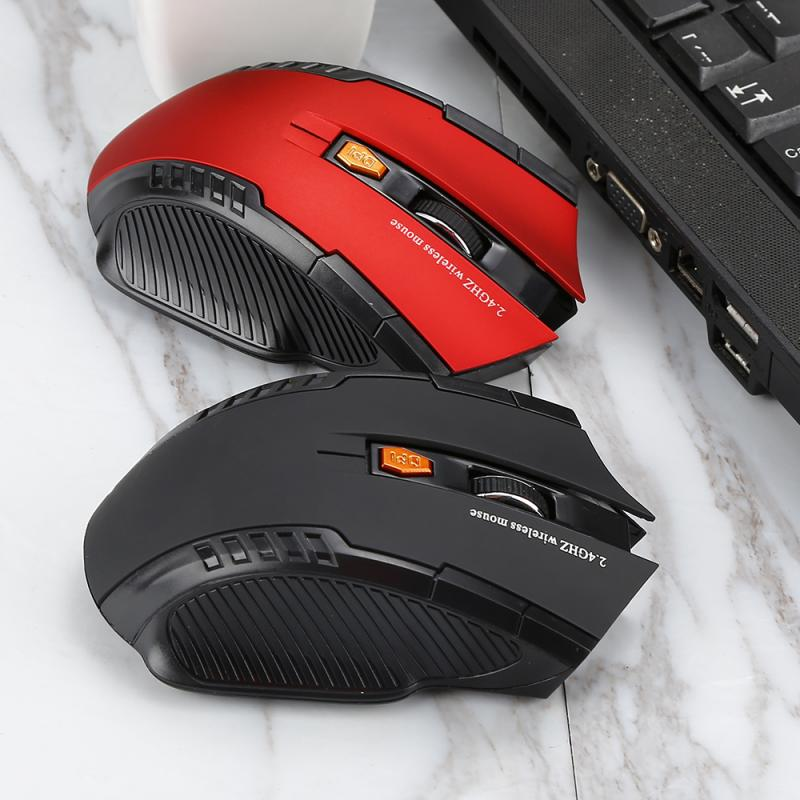 For 2.4GHz Wireless Optical Mouse  New Game Wireless Mice With USB Receiver Mause For PC Gaming Laptops