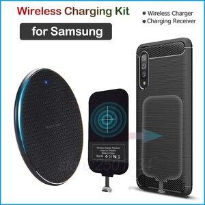 Image 1 - Qiไร้สายชาร์จสำหรับSamsung Galaxy S8 S9 S10 S20หมายเหตุ8 9 10 Plus A6 A8 A40 A50 A60 a70s Charger Micro USBประเภทCตัวรับสัญญาณ