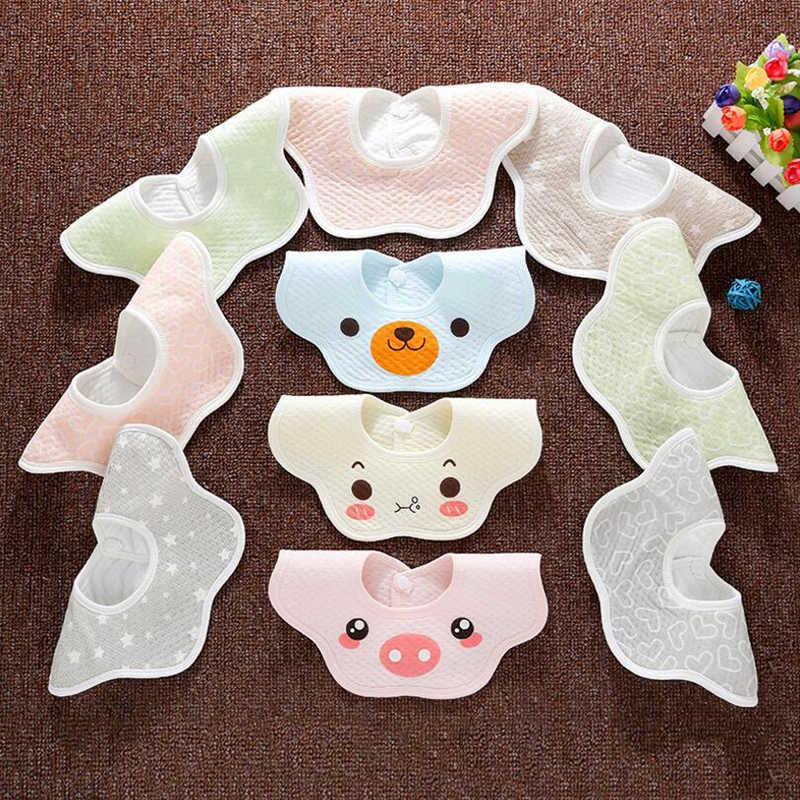 Bebê recém-nascido burp panos babadores à prova dwaterproof água adorável saliva bib dos desenhos animados flor cuidados da criança bandana cbm003