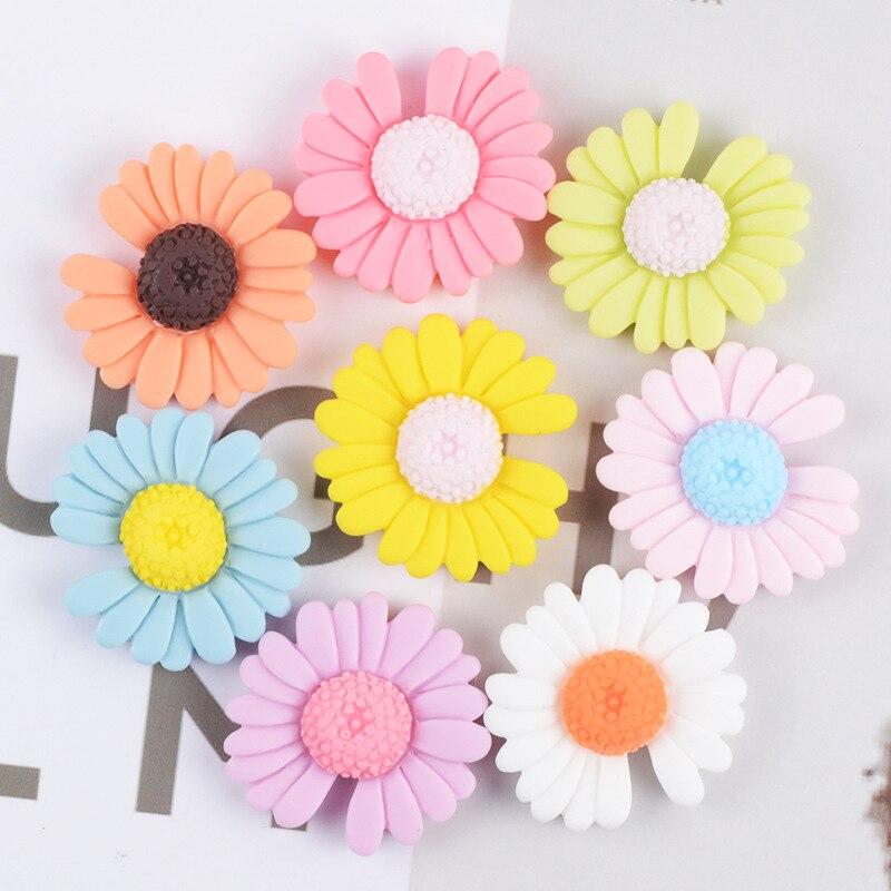 Sunflower magnetic refrigerator magnet, multi-color sunflower magnetic refrigerator, cute flower magnetic blackboard sticker
